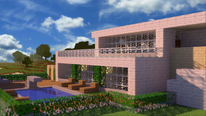 HD wallpaper | Minecraft House by PoPlioP