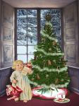 Waiting For Santa! by Shirley-Agnew-Art
