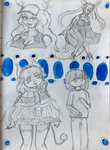Dragon Maid Sketchpage by Tiny-Doodles