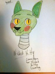 Commission #1 Wicked Kitty by JokerinaQuinn