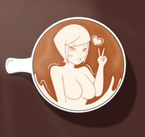 Latte Art Gal by DB-Palette