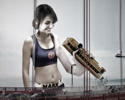 Victoria Justice - Attack on the Golden Gate by GiantessStudios101