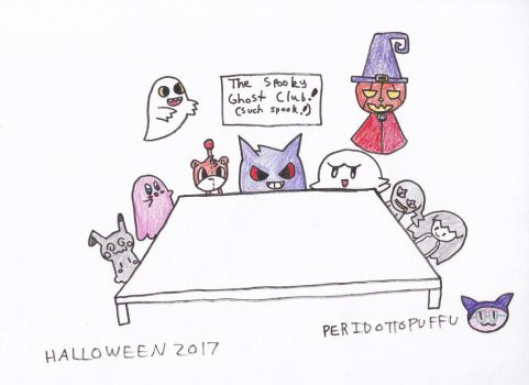 Halloween 2017 - The Spooky Ghost Club by PeridottoPuffu