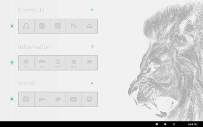 Lion Desktop by RidKurn