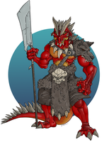 C:/// DND: Dragon-guy Barbarian by Buttomancer