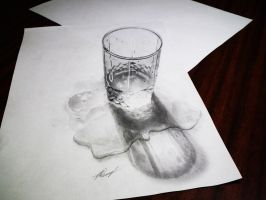 Water glass 3D by EvgenyS