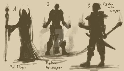 Necromancer - Concept Art trial by sneaky-dudke