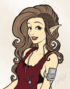 Coloring Book Preview: Modern Elf 1 +colored+ by aneolus