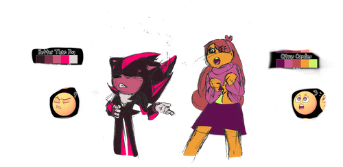 Expression Meme thingy: Shadow, and Mabel by LillyGeneva