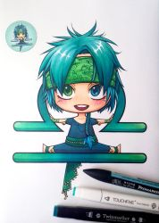 Chibi Libra with alcohol markers + video by Lily-Fu