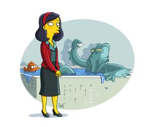 The Shape Of Water Simpsonized by ADN-z