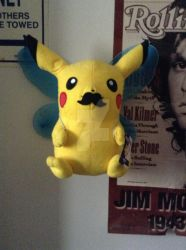 Pikachu the new fairy type with mustache!!! by Stormtrooper0623