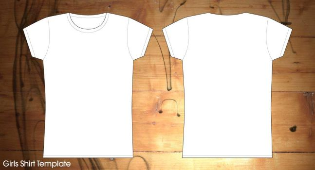 girls shirt template by Leyaexcolosi