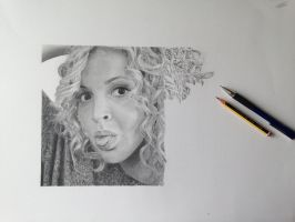 Self Portrait in Pencil stage 4 by SamanthaMessias