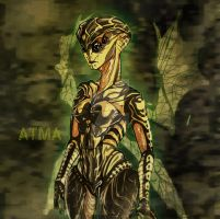 Atma the prothean OC by HelavisKrew