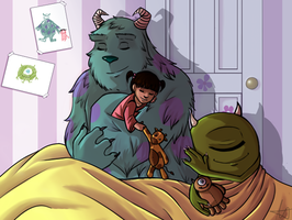 Monsters Inc cuddles by Foreveryoung8