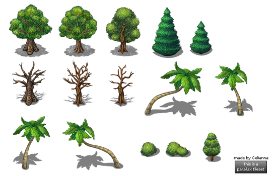 New tree set by PinkFireFly