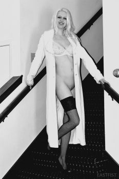 Nude Ascending a Staircase by Eastfist