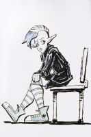 Gwen on Bench by Josh-Ulrich
