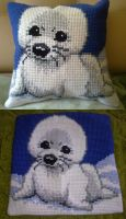 Babyseal pillowcase by MsKudjo