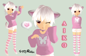 MMD .:Aiko:. - Newcomer by Trippy-Rabbit