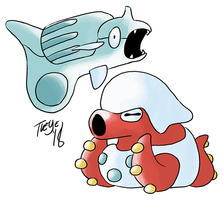 Beta Remoraid and Octillery by tveye363