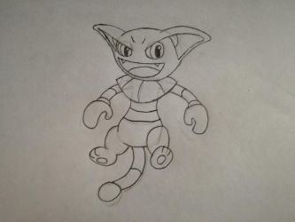(AT) Gliscor as a Fairy Type (Sketch) by THEMRCAGDL