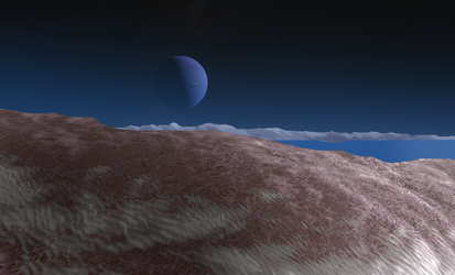Neptune from Triton by eburacum45
