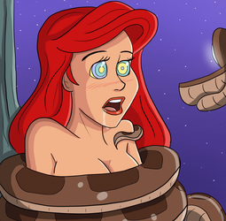 Ariel Coiled and Hypnotized by PolManning