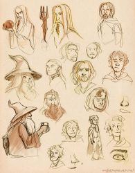 LotR Doodles - Fellowship Edition by myluckyseven
