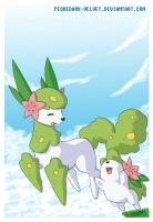 SHAYMIN WHEN YOU ARE SMILING by PEQUEDARK-VELVET