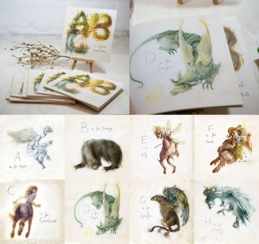 An ABC Of Magical Creatures by Checanty