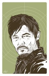 Daryl Dixon from Walking Dead by gravitydsn