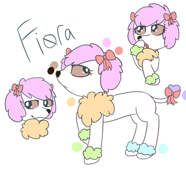 Pastel Poodle bab by StrawberryMistro
