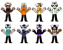 Masked Kid Adopts (#1 I guess?) by saffronEcstasy