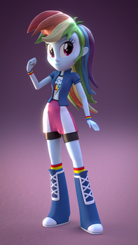 EQG Rainbow Dash by CreatorOfPony