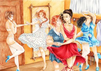 Dancing girls by Atelierdereve