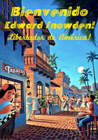 Welcome Edward Snowden! Liberator of America! by poasterchild