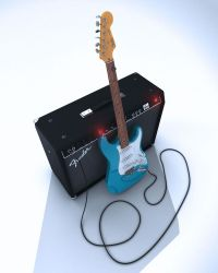 Fender Stratocaster and Amp by DonRallo