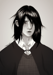 Snape Genderbend by lilacdaisy