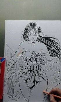 WONDER WOMAN in production 2017 by TIAGO-FERNANDES
