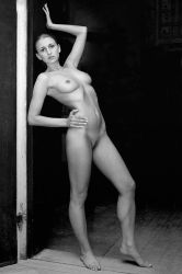 Stretching nude by jerrywhite