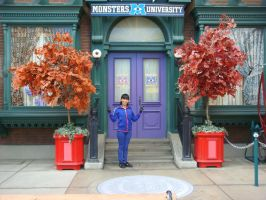 I'm here outside of Monsters University's house by Magic-Kristina-KW