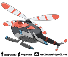 018 - BLACOPTER (Pokedex ASMS2gen) by Meg4mente