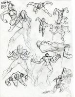 Action poses part 2 by Jinju101
