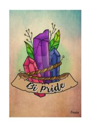 Bi Pride Crystal by K8e-Art