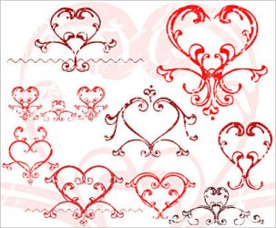 Photoshop brushes: Love hearts by bsilvia