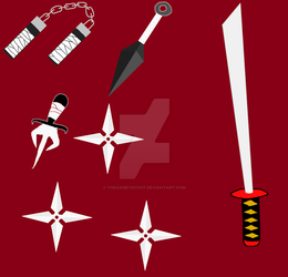 Ninja weapons! by TheAngryScout