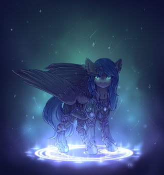 Lunar light | YCH by nightskrill