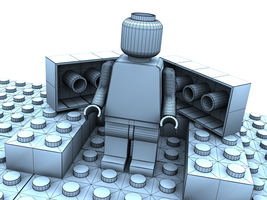 Lego Dude Wireframe by Squint911